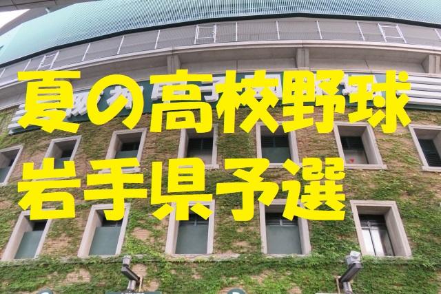 高校野球岩手県予選地方大会