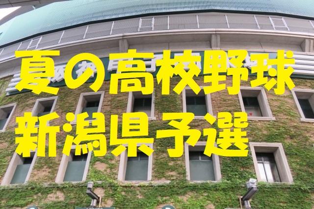 高校野球新潟県予選地方大会