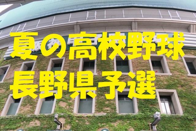高校野球長野県予選地方大会