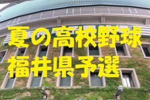 高校野球福井県予選地方大会